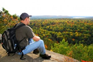 Hiker Mike in Algonquin Provincial Park