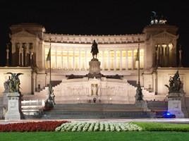 National Monument to Vittorio Emanuele II (at night) Iberian Cruise 2013