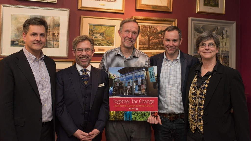 Michael Durrant, Michael Walton, Ronald Stagg, David Steele and Liz Devine Photo by Jason Tse